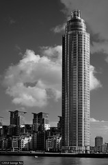 St George Wharf Tower / north (Images George Rex) Tags: uk england blackandwhite bw london tower monochrome architecture skyscraper nikon unitedkingdom britain highrise residential thetower broadwaymalyan vauxhalltower stgeorgewharftower imagesgeorgerex photobygeorgerex