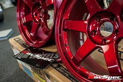 """VOLK Racing TE37SL 18x9.5 +22 Hyper Red • <a style=""""font-size:0.8em;"""" href=""""http://www.flickr.com/photos/64399356@N08/12914166134/"""" target=""""_blank"""">View on Flickr</a>"""