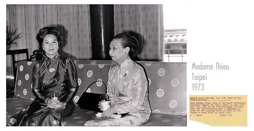 1973 MADAME NGUYEN VAN THIEU - TAIPEI TAIWAN HOTEL