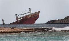 """Nordland"" shipwreck-Kythera (George Baritakis) Tags: winter sea beach island ships greece kythera κύθηρα"