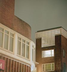 untitled (Faris) Tags: school windows sky castle 120 6x6 mamiya tlr film home japan wall night mediumformat t long exposure fuji mr bricks 66 crib medium berlage fortified amsterdamse c330 160ns