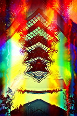 The Telescoping Pagoda of Heaven (Visionheart - Extremely Busy at the Mo) Tags: architecture photomanipulation surrealism abstraction metaphor allegory abstractsurrealism chinesebuddhistarchitecturereference