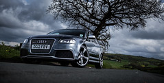 Audi RS3 (Niall97) Tags: uk england car rural canon eos grey countryside mood fast automotive turbo 25 l 5d a3 fullframe audi f28 sthelens hatchback crank markii merseyside 2470mm rs3