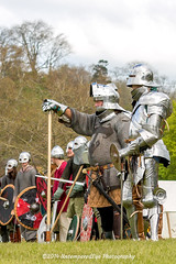 [2014-04-19@15.11.14a] (Untempered Photography) Tags: history costume helmet battle medieval weapon sword knight shield armour reenactment combatant chainmail canonef50mmf14 perioddress polearm buckler platearmour poleweapon mailarmour untemperedeye canoneos5dmkiii untemperedeyephotography glastonburymedievalfayre2014