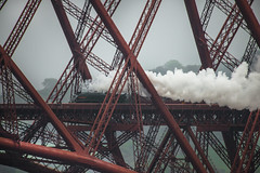 Union of South Africa on the Forth Bridge April 2014 (Grant_R) Tags: edinburgh steamtrain forthbridge aclass unionofsouthafrica grantr
