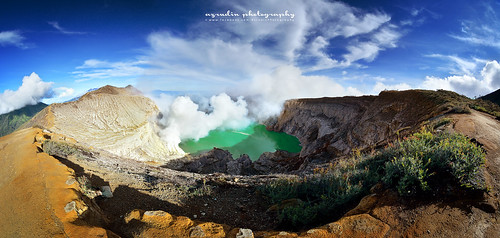 Panoramic Ijen Crater