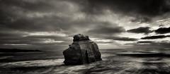 Bracing The Storm (codyornbaun) Tags: ocean california sunset sea white black beach water rock san diego cliffs