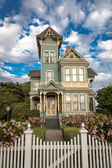 Pitkin_Conrow_Victorian_20140314-13 (JamesDPhotographer) Tags: california wedding house home clouds fence garden grande victorian venue arroyo arroyogrande pitkin conrow pitkinconrowvictorian