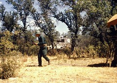 Vintage Color Slide - Random Selection - Infantry Advance - Operation Hollywood - about 1954 (Mike Leavenworth) Tags: color film kodak military slide crew exercises kodchrome manuevers vintge
