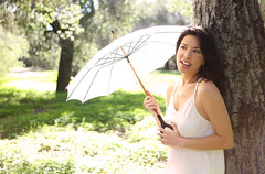 1.31.15 5 (Marcie Gonzalez) Tags: california park lighting county ca wedding light portrait orange woman usa white green nature grass female america forest umbrella garden happy photography us model women soft photographer natural united north models parks calif southern socal cal photograph parasol ethereal session states weddings gonzalez elegant delicate offwhite simple marcie elegance so