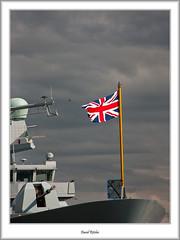 The Flag (flatfoot471) Tags: summer scotland riverclyde glasgow flag military ships quay destroyer yorkhill royalnavy type45 hmsduncan