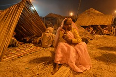 Gangasagar at Night...... A Pilgrimage (pallab seth) Tags: morning winter portrait people woman india face festival night asian religious nikon asia outdoor indian religion culture tradition custom devotee hindu hinduism bengal pilgrimage pilgrim ganga ganges mela sagar bayofbengal sunworship 2015 peopleoftheworld gangasagar holydip gangasagarmela melaground