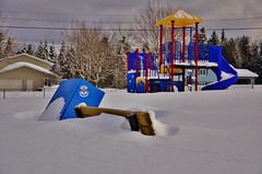Quiet Day at the Park (evanlochem) Tags: new winter snow canada storm suburban buried deep brunswick pack record february snowfall heavy blizzard drifts banks maritimes rothesay
