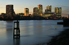 Canary Wharf (Steve Denny) Tags: london water thames buildings reflections sony towers canarywharf riverthames manfrotto sonydslr project2015 stephenmichaeldenny