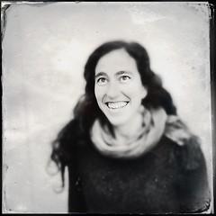Ritratto di Mireia (Marco Di Battista) Tags: portrait blackandwhite smile blackwhite portraiture ritratto unexpected nem bianconero biancoenero dagherrotipo hipstamatic