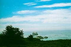 45430025 (danimyths) Tags: ocean california film beach nature water landscape coast waterfront pacific roadtrip pch pacificocean westcoast pacificcoastalhighway filmphotography
