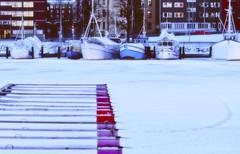 No Fish Today (ri Sa) Tags: winter snow ice marina buildings finland boats pier fishing helsinki kruunuhaka