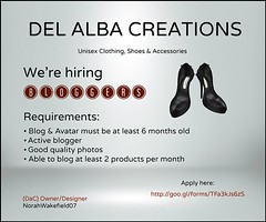Hiring Bloggers - DaC (norah.wakefield) Tags: fashion blog store shoes mesh employment blogger hiring clothes bloggers heels accessories job app hire slink fitmesh delalbacreations