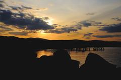 Sunset over Arklow (Colin Kavanagh) Tags: ireland sunset sea sky colour evening pier rocks arklow