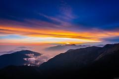 Sunset in high mountains (Cheng-Yang, Chen) Tags: sunset cloud mountain canon twilight dusk taiwan wideangle    6d  fierysky hehuanshan   mthehuan  ef1635mmf4lisusm