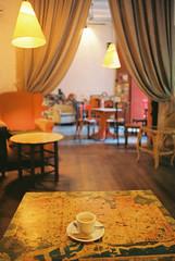untitled (amanda aura) Tags: barcelona film coffee caf spain interior olympusom1
