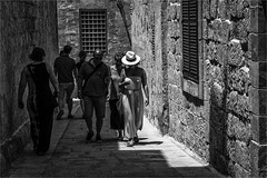 Searching for a white hat (zilverbat.) Tags: city people blackandwhite bw blanco monochrome hat canon mono town blackwhite alley scenery noir zwartwit candid streetphotography streetlife visit malta structure timelife blanc humans streetshot candidphotography streetcandid peopleinthecity straatfotografie blackwhitephotos