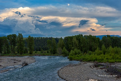 Moon Over the Gros Ventre River (Amy Hudechek Photography) Tags: summer moon storm weather clouds river evening wyoming grandtetonnationalpark gtnp grosventreriver amyhudechek