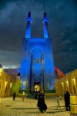 Masjed-i Jam of Yazd at night (T   J ) Tags: nikon iran d750 yazd teeje nikon2470mmf28