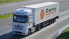 151-MN-958 (panmanstan) Tags: truck wagon mercedes motorway yorkshire transport lorry commercial vehicle freight mp4 m62 haulage whitley actros