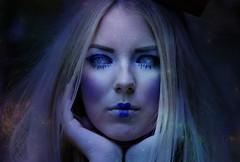 moon eyes (Fanni Burony) Tags: blue moon night stars magic galaxy fantasy mage stardust supernatural
