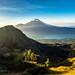 View of Mt Agung from Mt Batur, Bali