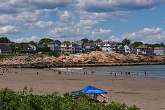 Life is a beach (d.cobb56) Tags: ocean blue beach june clouds landscape seaside sand scenery seasons outdoor tide maine shore shortsands lifeisabeach