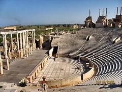 Ancient Rome. Leptis Magna Theatre, Africa Proconsularis (Libya), World Heritage Site (mike catalonian) Tags: africa worldheritagesite libya leptismagna ancientrome africaproconsularis