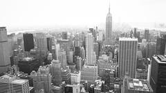 heART of the City (lozadae12) Tags: newyorkcity blackwhite cityscape skyscrapers manhattan rockefellercenter panoramic empirestatebuilding topoftherock