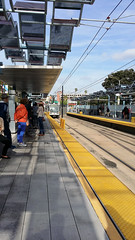 One of the first metro trams to Santa Monica is arriving at USC station (Los Angeles,California,US) (vesso.kolev) Tags: california us losangeles metro santamonica tram usc