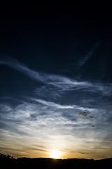 Paysage1 (KropsGraff) Tags: sun sunset soleil coucher cloud nuage blue bleu