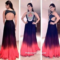 Sunny Leone in Neha Agarwal's Satin Chiffon Gown (shaf_prince) Tags: gowns eveninggowns sunnyleone bollywoodactress lakmefashionweek designerwear celebritydresses ombredress indianfashiondesigners sleevelessdresses bollywooddesignerdresses actressingowns actressinbluedresses cutoutgown