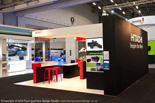 custom exhibition stand Hitachi