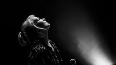 Labyrinth Ear (KristHelheim) Tags: blackandwhite bw music blackwhite concert ledefrance noiretblanc live gig 85mm nb singer musique chanteuse fondnoir sigmalens letamanoir canon6d sigma85mm genneviliers labyrinthear