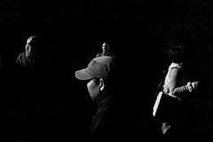 Quadruple (Aria Aryana) Tags: street leica winter light shadow blackandwhite bw hat 35mm dark bright deep streetphotography australia melbourne line sl summilux bnw leicacamera streetphotographer striding leicasl streetmags streettogs streetdreammags
