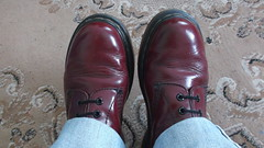 DSCF9609 (rugby#9) Tags: original feet yellow cherry boot hole boots lace dr air 14 7 indoor icon wear size jeans levi stitching comfort sole doc levis 1914 cushion soles dm docs eyelets drmartens bouncing airwair docmartens 501 martens dms 501s cushioned wair levi501s doctormarten 14hole yellowstitching
