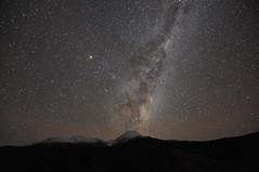 Mt. Ngauruhoe (benji88uk) Tags: new mountain mountains night stars landscape island nikon north zealand northisland milkyway clearskies d90