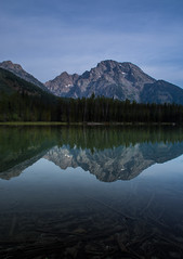 Mount Moran Reflection (Nancy King Photography) Tags: lake reflection nature wyoming grandtetonnationalpark mtmoran