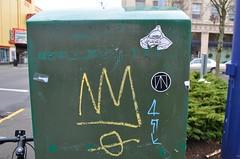 12/22/2014 (sixheadedgoblin) Tags: sticker scrawl crown publicart olympiawashington ease