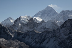 South face of Everest (D A Scott) Tags: ri nepal camp mountains trek lakes everest base himalayas gokyo