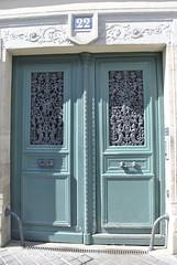 Parisian doorway (carolyngifford) Tags: door paris ironwork riverseine