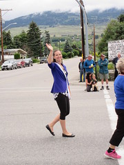 Hello (jamica1) Tags: woman canada girl bc okanagan may columbia days parade british kelowna rutland waving
