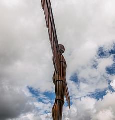 Shining Angel of the North (munkehmans) Tags: summer sky statue angel shower artwork gateshead northern northeast tyneside gormley angelofthenorth darksky anthonygormley tyneandwear publicartwork northeastengland