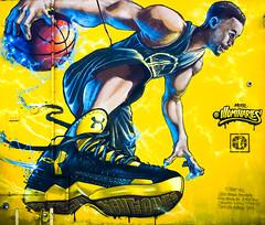 Let's Go Warriors! (Thomas Hawk) Tags: california usa streetart basketball america graffiti oakland us mural unitedstates unitedstatesofamerica bayarea warriors eastbay nba westcoast ua underarmor gsw goldenstatewarriors nbafinals illuminaries fav10 fav25 dubnation stephcurry nbafinals2016