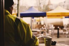 Coffee Break (YSida) Tags: street people urban film coffee analog nikon break oxford analogue agfa